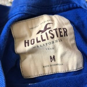 Hollister Shirts - Blue Hollister Men's Short Sleeve Graphic Shirt